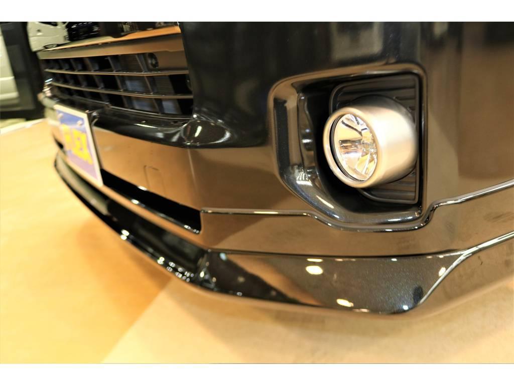 フレックスオリジナルフロントスポイラーです! | トヨタ ハイエースバン 2.7 スーパーGL 50THアニバーサリー リミテッド ワイド ミドルルーフ ロングボディ4WD フレックスカスタム