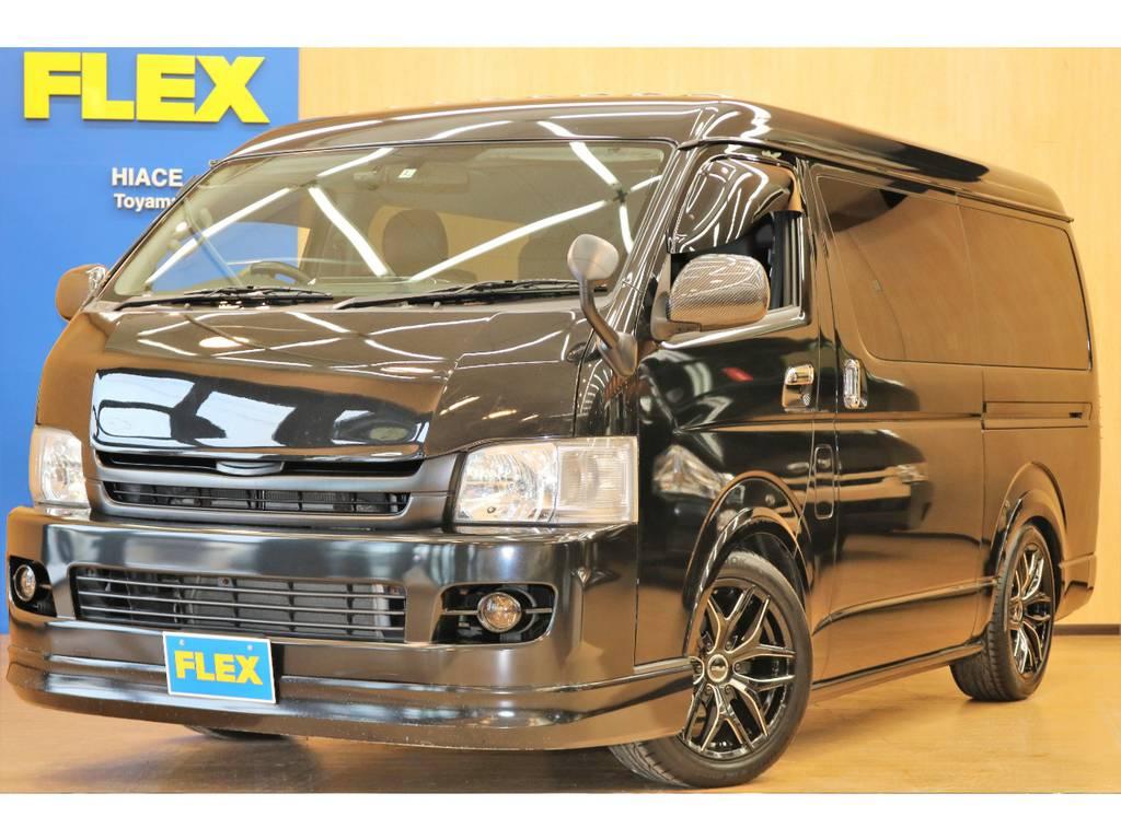 【ハイエースワゴンGL4WD】人気の4WDブラック カスタム済み車両の入庫です!