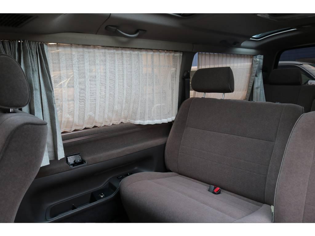 電動カーテン装備! | トヨタ ハイエース 3.0 スーパーカスタムG リビングサルーンEX ディーゼルターボ 4WD 下取り直販