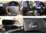 【内装も綺麗な仕上がり】黒木目インテリアパネルset・ガングリップステアリング&シフト・助手席小物入れ・AC100V完備。