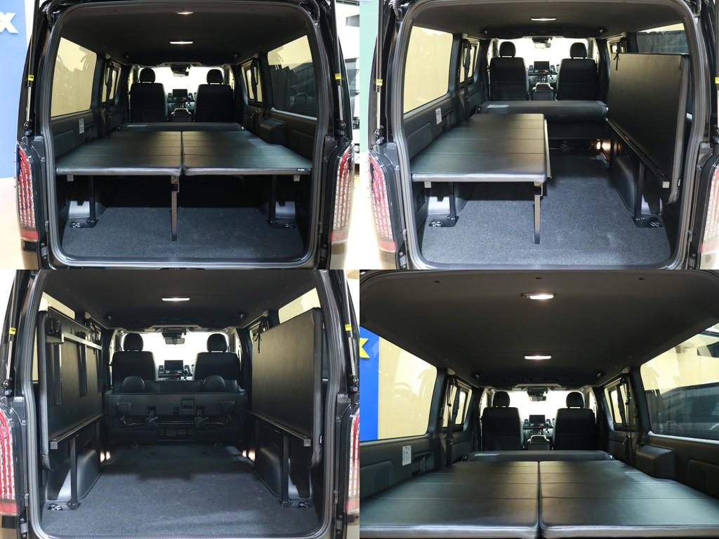 FLEXオリジナル新商品FLIP UPbed採用!折り畳み式のベッドキットで収納が楽々です♪