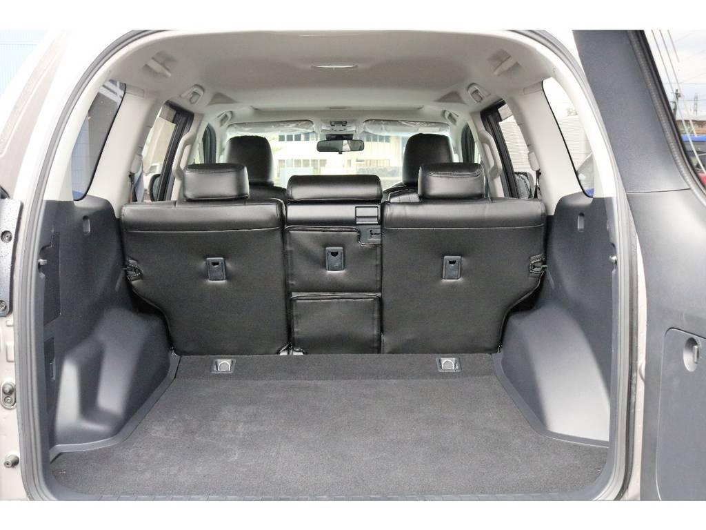 とのボードも装着しているので荷室のプライバシーはしっかり守れます!!!! | トヨタ ランドクルーザープラド 2.8 TX ディーゼルターボ 4WD TRDフロントスポイラー