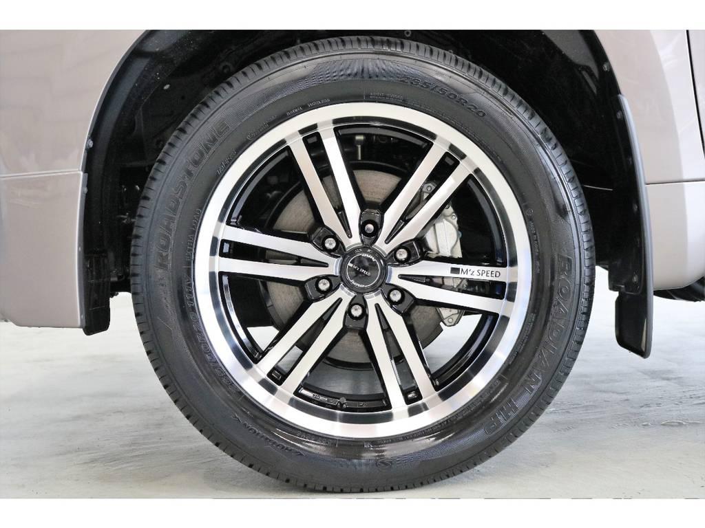 新品M'sスピードJUNO20インチアルミホイール!!   トヨタ ランドクルーザープラド 2.8 TX ディーゼルターボ 4WD TRDフロントスポイラー