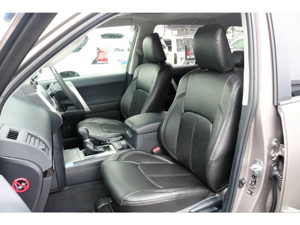 新品シートカバーを取付致しました。   トヨタ ランドクルーザープラド 2.8 TX ディーゼルターボ 4WD TRDフロントスポイラー