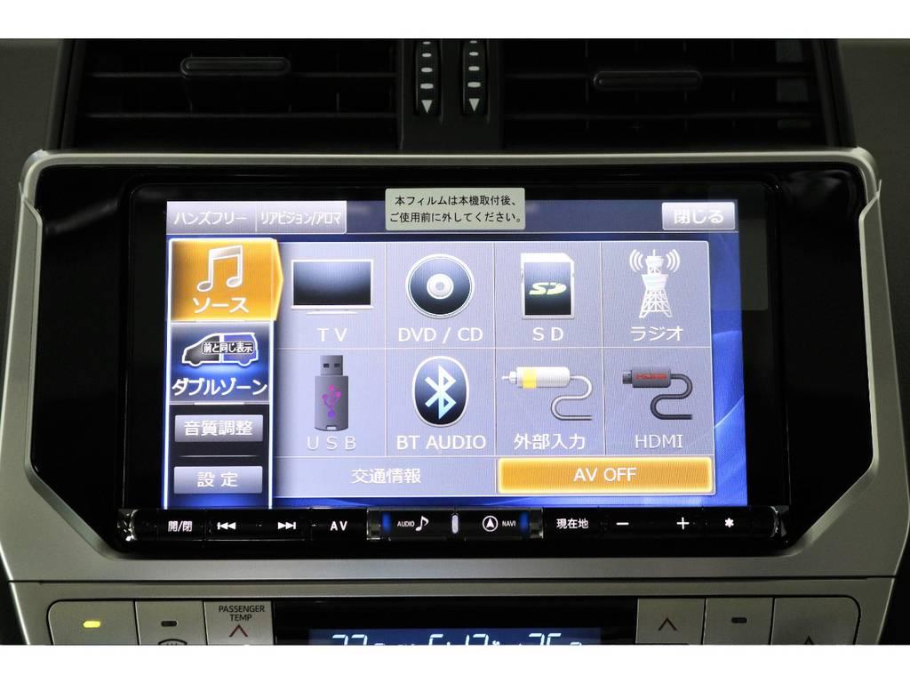 新品ALPINE製の9インチナビ・フルセグTV   トヨタ ランドクルーザープラド 2.8 TX ディーゼルターボ 4WD TRDフロントスポイラー