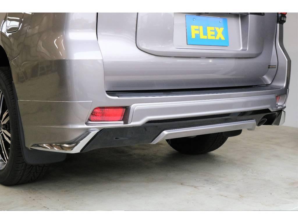 新品モデリスタ製リヤハーフエアロを装着!!!!   トヨタ ランドクルーザープラド 2.8 TX ディーゼルターボ 4WD TRDフロントスポイラー