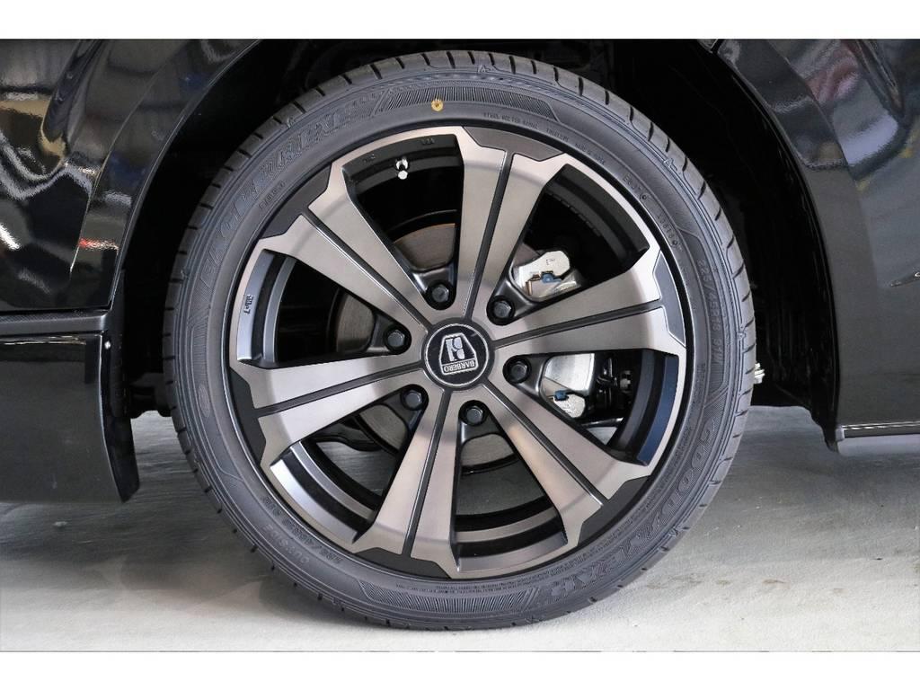FLEXオリジナルカラー バルベロ グランデ 18インチアルミホイール装着!!!! | トヨタ ハイエース 2.7 GL ロング ミドルルーフ 4WD TSS寒冷地付アレンジAS