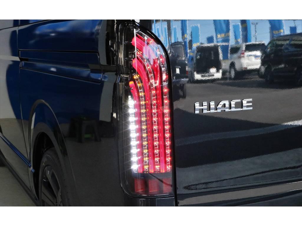 FLEXオリジナル煌REDテール装着済みです!! | トヨタ ハイエース 2.7 GL ロング ミドルルーフ 4WD TSS寒冷地付アレンジAS
