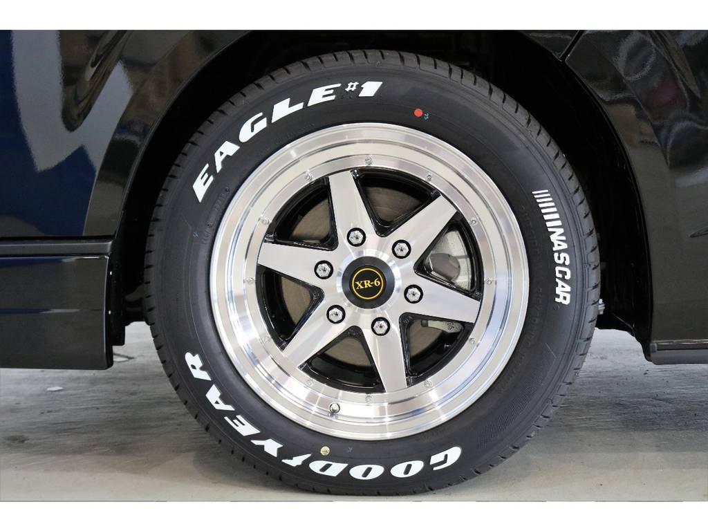 WORK製エクストラップ17インチアルミホイール装着済み? | トヨタ ハイエースバン 2.8 スーパーGL 50TH アニバーサリー リミテッド ロングボディ ディーゼルターボ 4WD