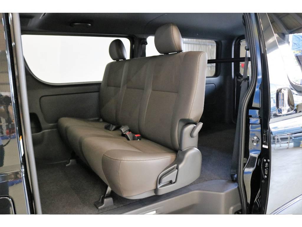 ハーフレザー&ダブルステッチシート!!!!!! | トヨタ ハイエースバン 2.8 スーパーGL 50TH アニバーサリー リミテッド ロングボディ ディーゼルターボ 4WD