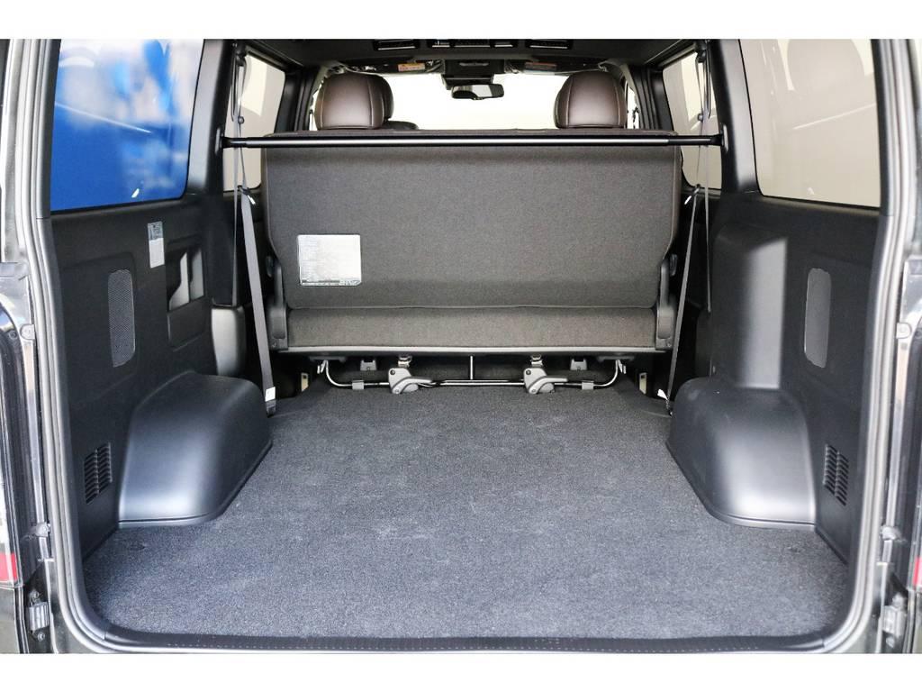 2列目をたためばハイエースならではの広々とした荷室!!!!なんでも積めそうです!!!! | トヨタ ハイエースバン 2.8 スーパーGL 50TH アニバーサリー リミテッド ロングボディ ディーゼルターボ 4WD