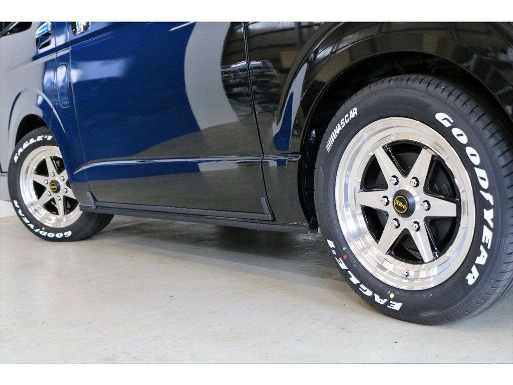 Goodyear EAGLE1 NASCARタイヤ装着!!!!!! | トヨタ ハイエースバン 2.8 スーパーGL 50TH アニバーサリー リミテッド ロングボディ ディーゼルターボ 4WD