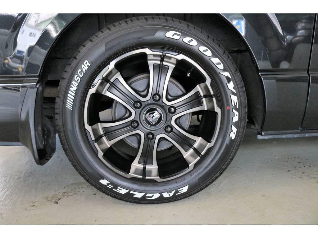 ホイールには、バルベロDEEPS17インチアルミホイールを新品で装着しています♪ | トヨタ ハイエースバン 3.0 スーパーGL ロング ディーゼルターボ 4WD