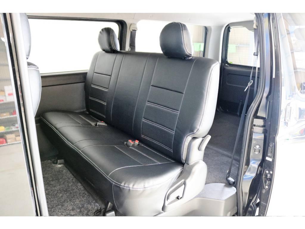 セカンドシートはリクライニングや折り畳み格納も出来、用途に併せてシートアレンジが可能です! | トヨタ ハイエースバン 3.0 スーパーGL ロング ディーゼルターボ 4WD