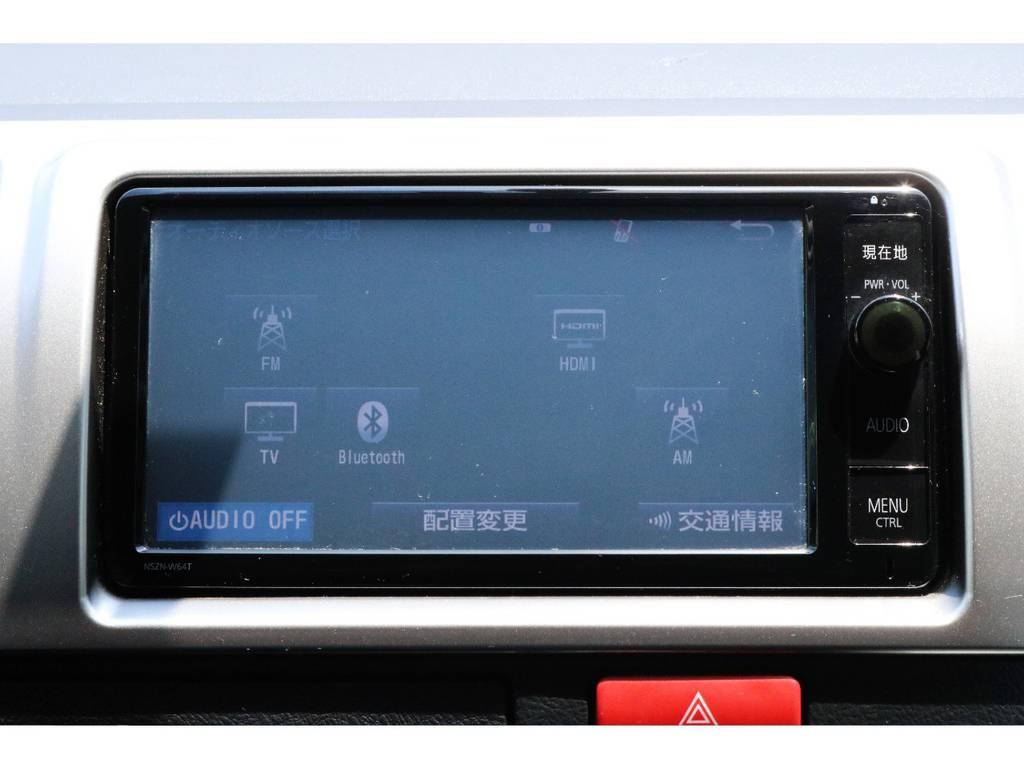 フルセグTVやBluetoothオーディオなどオーディオソースも充実しています♪ | トヨタ ハイエースバン 3.0 スーパーGL ロング ディーゼルターボ 4WD