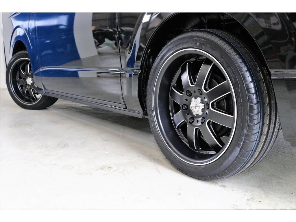 ファブレスLM-8 18インチアルミ 装着!!!!! | トヨタ ハイエース 2.7 GL ロング ミドルルーフ 4WD R1