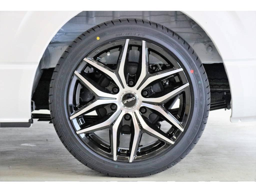 Delf D01 18インチアルミホイール装着!!!!! | トヨタ ハイエース 2.7 GL ロング ミドルルーフ 4WD TSS付