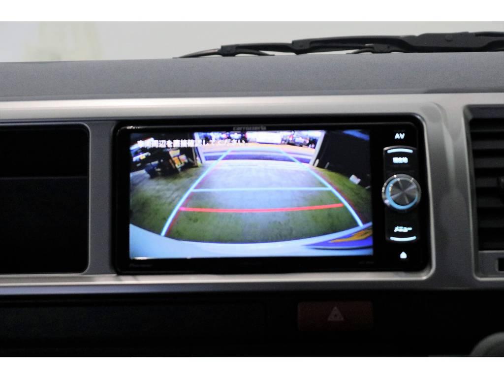 バックカメラ映像配線映像配線加工済みなので後方も安心♪ | トヨタ ハイエース 2.7 GL ロング ミドルルーフ 4WD TSS付