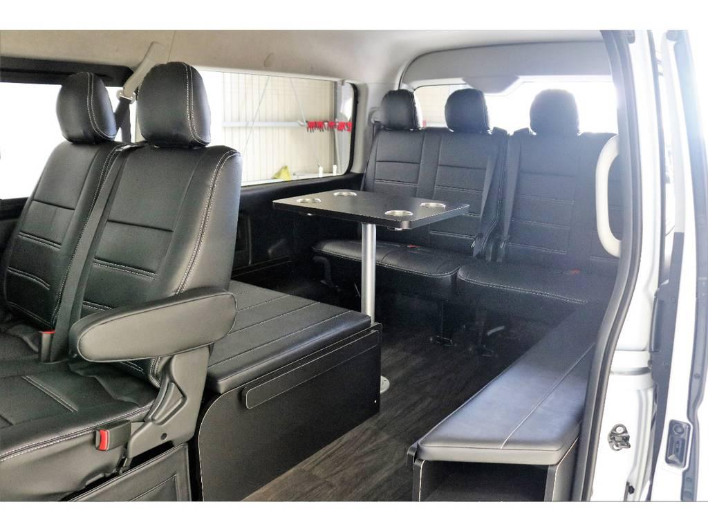 座面展開した場合です!!! | トヨタ ハイエース 2.7 GL ロング ミドルルーフ 4WD TSS付