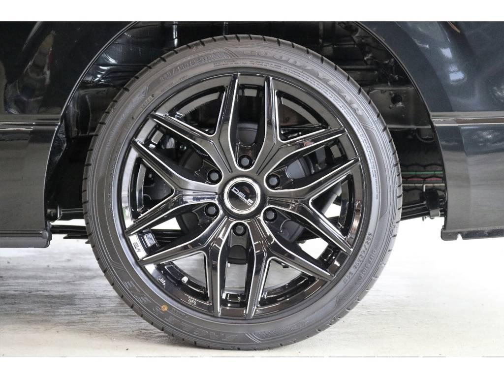 オリジナルDELF18インチアルミホイール装着済み!! | トヨタ ハイエース 2.7 GL ロング ミドルルーフ 4WD TSS付