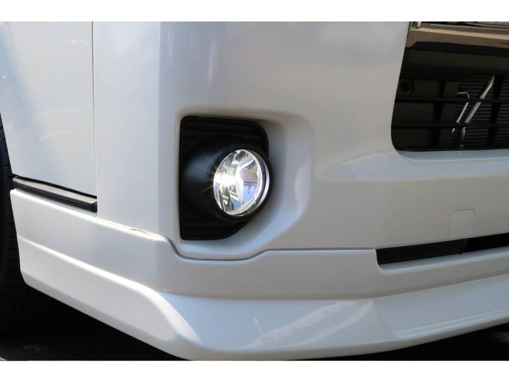 FLEXオリジナルFOG&室内LEDセット!!!!   トヨタ ハイエースバン 2.0 スーパーGL ダークプライム ロングボディ PS無