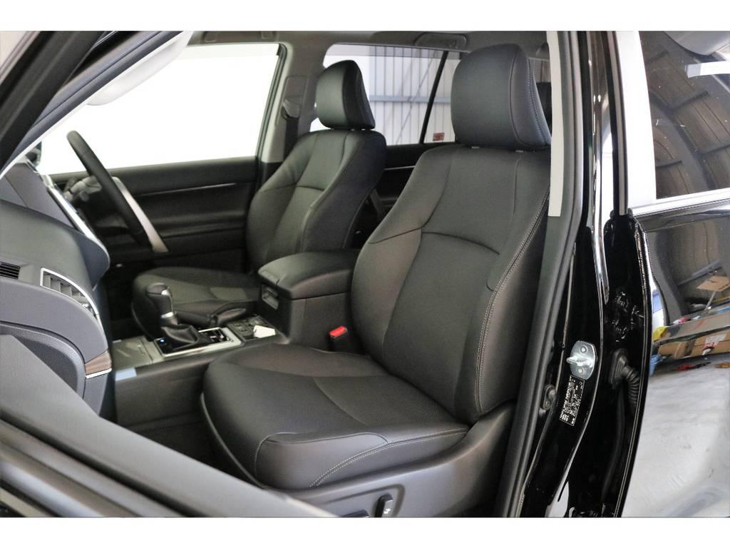 Lパッケージなので革シート&電動リクライニング!!!!! | トヨタ ランドクルーザープラド 2.7 TX Lパッケージ 4WD 7人