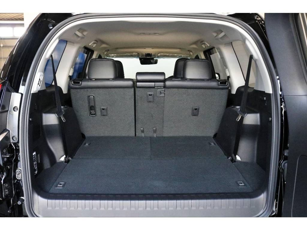 三列目シートを倒せば荷室となりますので荷物も楽々乗ります!!!!! | トヨタ ランドクルーザープラド 2.7 TX Lパッケージ 4WD 7人
