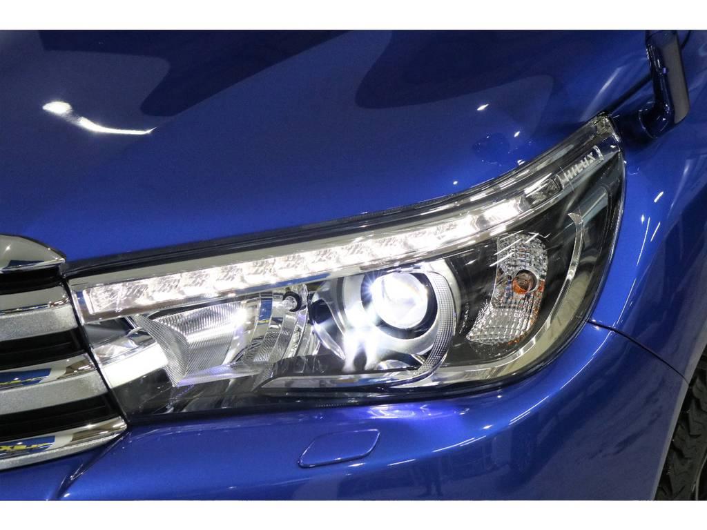 LEDヘッドライト(オートレベリング機能付き) | トヨタ ハイラックス 2.4 Z ディーゼルターボ 4WD Z