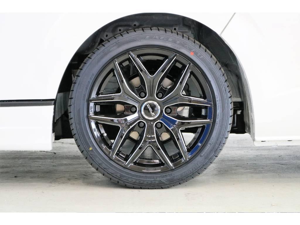 FLEXオリジナルホイール Delf D01 18インチアルミ | トヨタ ハイエース 2.7 GL ロング ミドルルーフ TSS付アレンジAS
