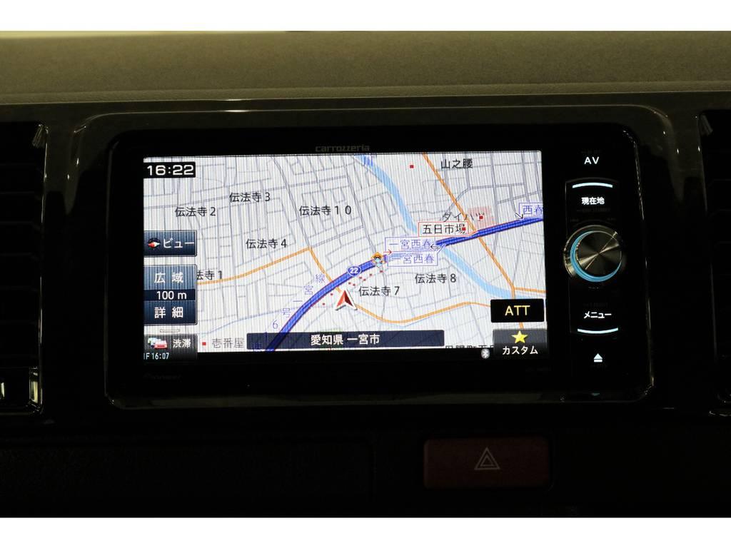 カロッツェリアSDナビ・フルセグTV・Bluetooth接続可能!!! | トヨタ ハイエースバン 2.8 スーパーGL 50TH アニバーサリー リミテッド ロングボディ ディーゼルターボ 床張りベット