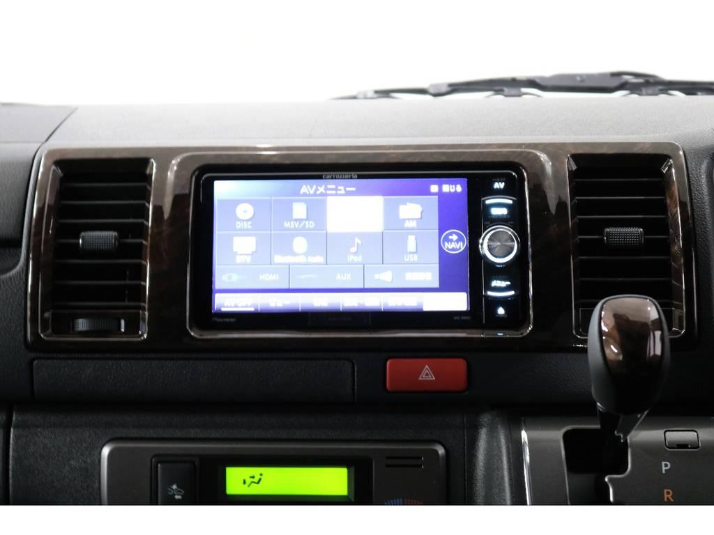 カロッツェリアSDナビ・フルセグTV・Bluetooth接続可能!!! | トヨタ ハイエースバン 2.8 スーパーGL 50TH アニバーサリー リミテッド ロングボディ ディーゼルターボ 4WD 50TH