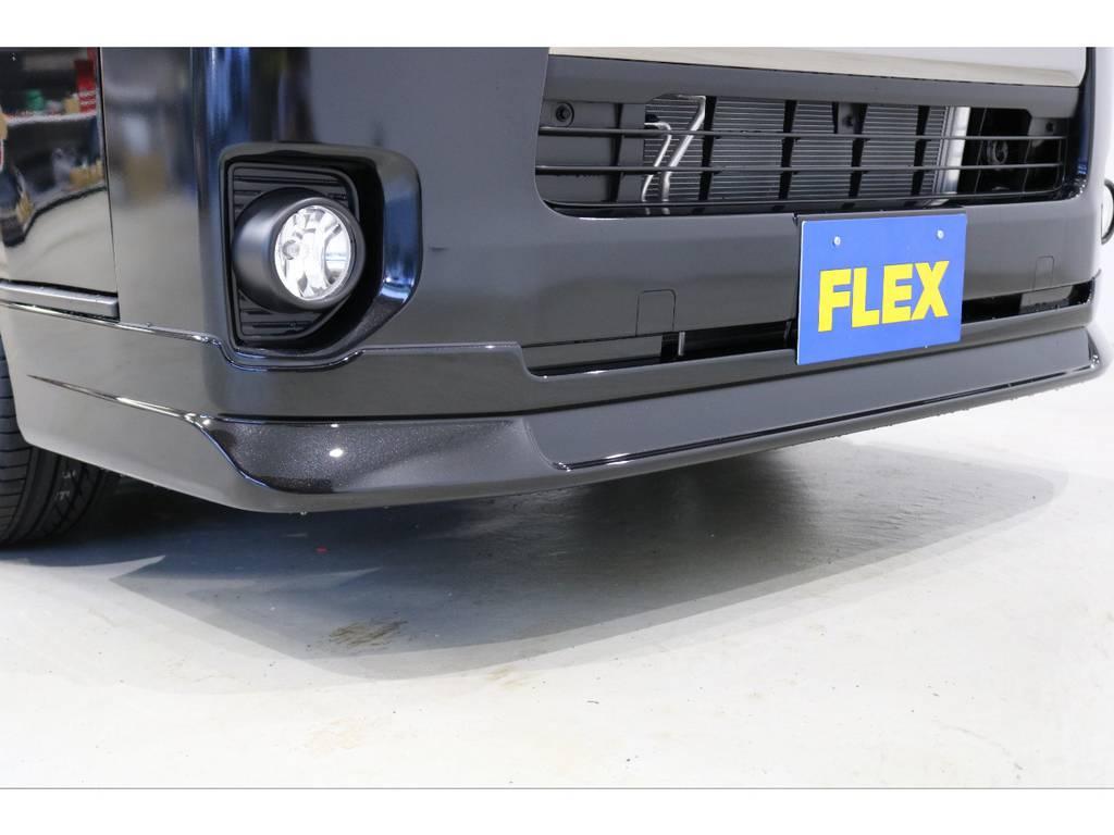 FLEXオリジナル Delfino Lineフロントリップスポイラー装着済み!!!! | トヨタ ハイエースバン 2.8 スーパーGL ダークプライムⅡ ロングボディ ディーゼルターボ PS無