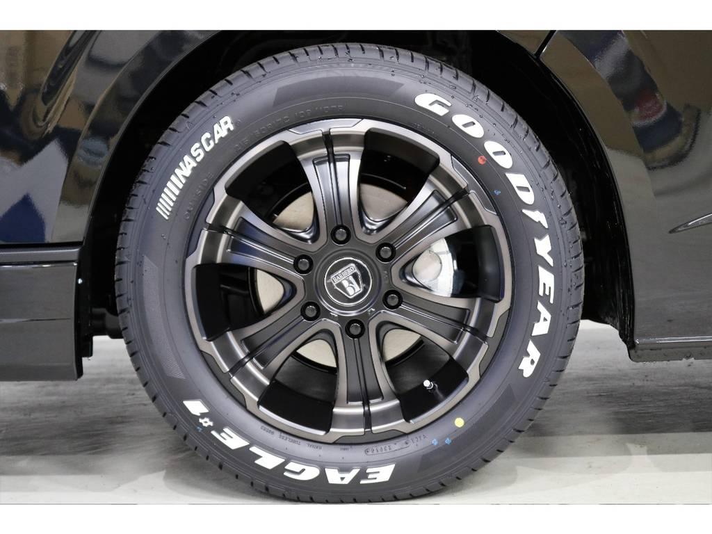 FLEXオリジナルカラー バルベロDEEPS17インチアルミホイール装着!!   トヨタ ハイエースバン 2.8 スーパーGL ダークプライムⅡ ロングボディ ディーゼルターボ PS無