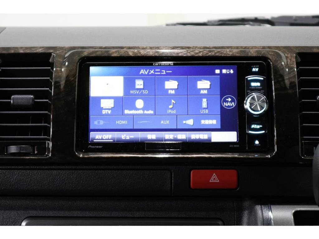 カロッツェリアSDナビ・フルセグTV・Bluetooth接続可能!!!   トヨタ ハイエースバン 2.8 スーパーGL ダークプライムⅡ ロングボディ ディーゼルターボ PS無