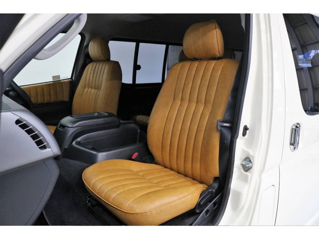 シートはカバーではなくシート張替えをしてあります!!! | トヨタ ハイエース 2.7 GL ロング ミドルルーフ CoastLines