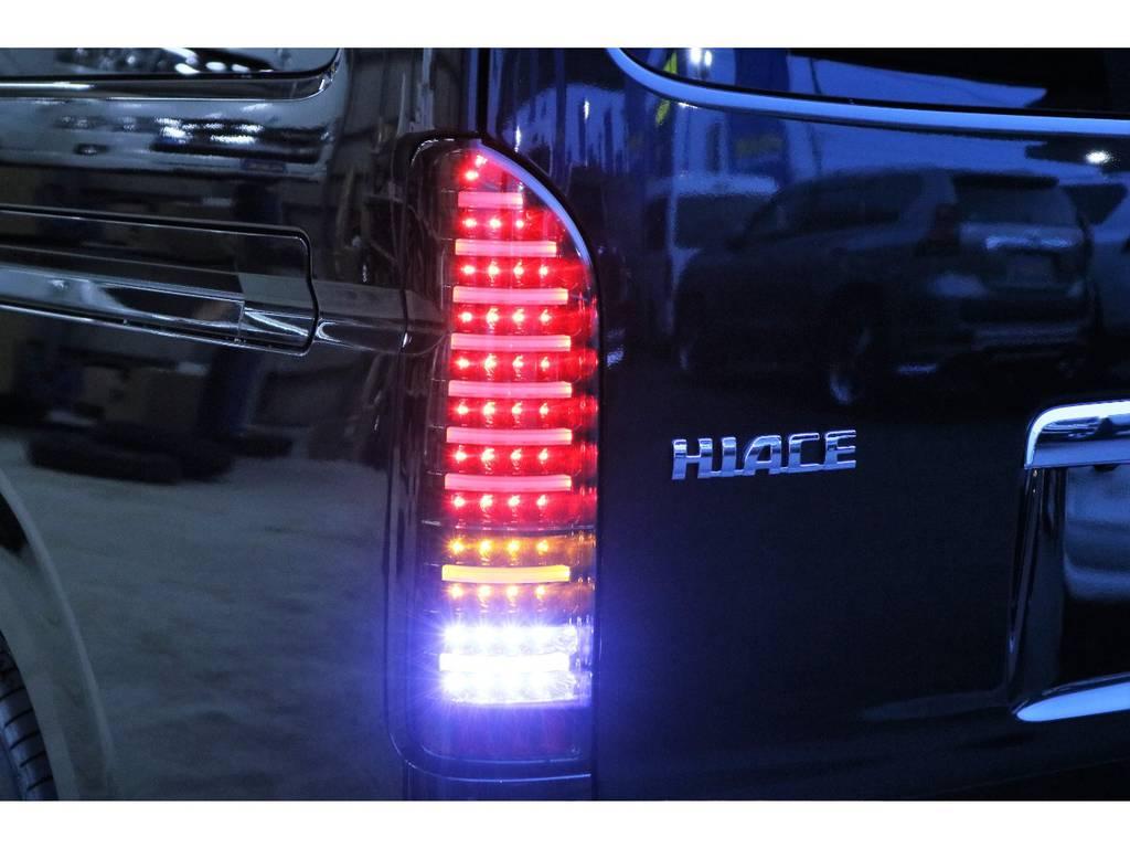 ヴァレンティ製LEDテール   トヨタ ハイエース 2.7 GL ロング ミドルルーフ 4WD R1