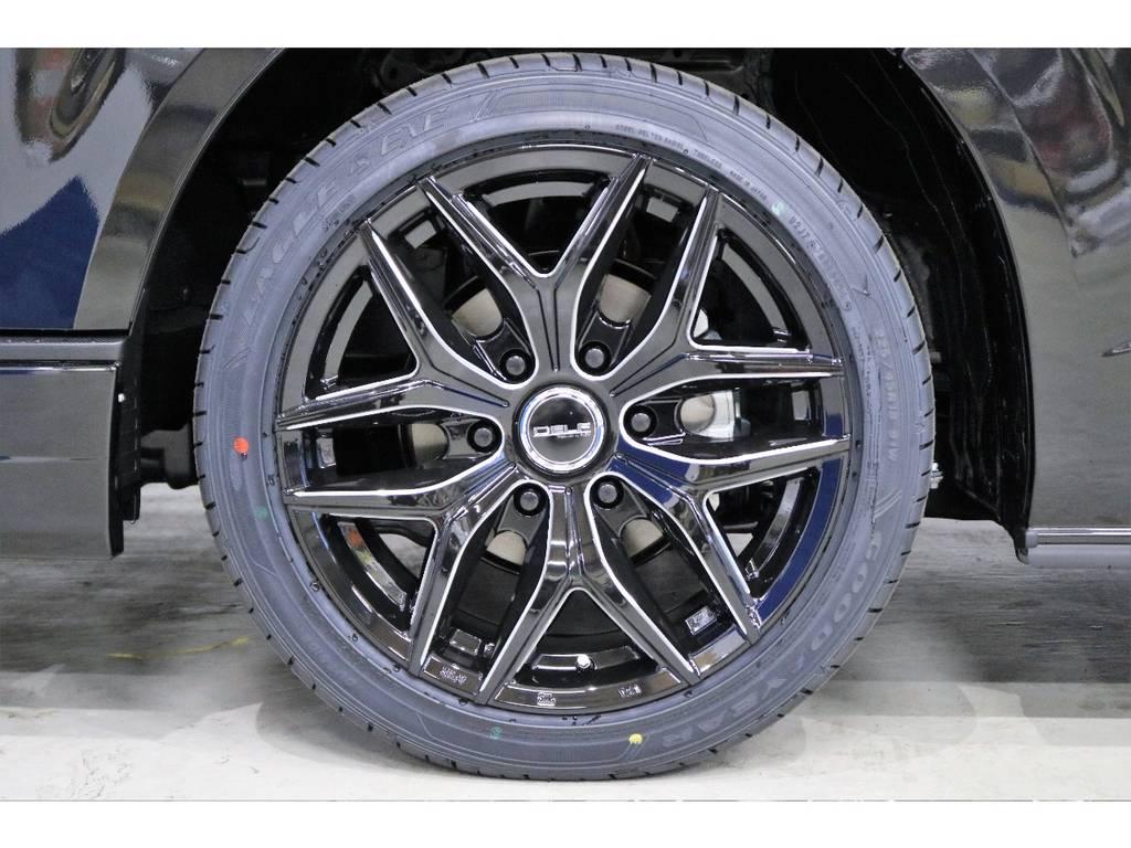 Delf D01 ブラックミーリング 18インチAW   トヨタ ハイエース 2.7 GL ロング ミドルルーフ 4WD R1