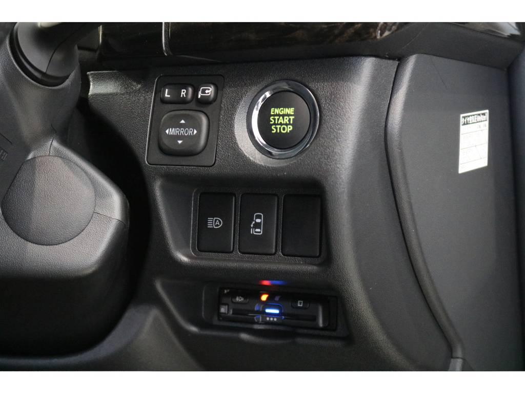 もちろんパワースライドドア・プッシュスタートは装備してあります。   トヨタ ハイエース 2.7 GL ロング ミドルルーフ 4WD R1