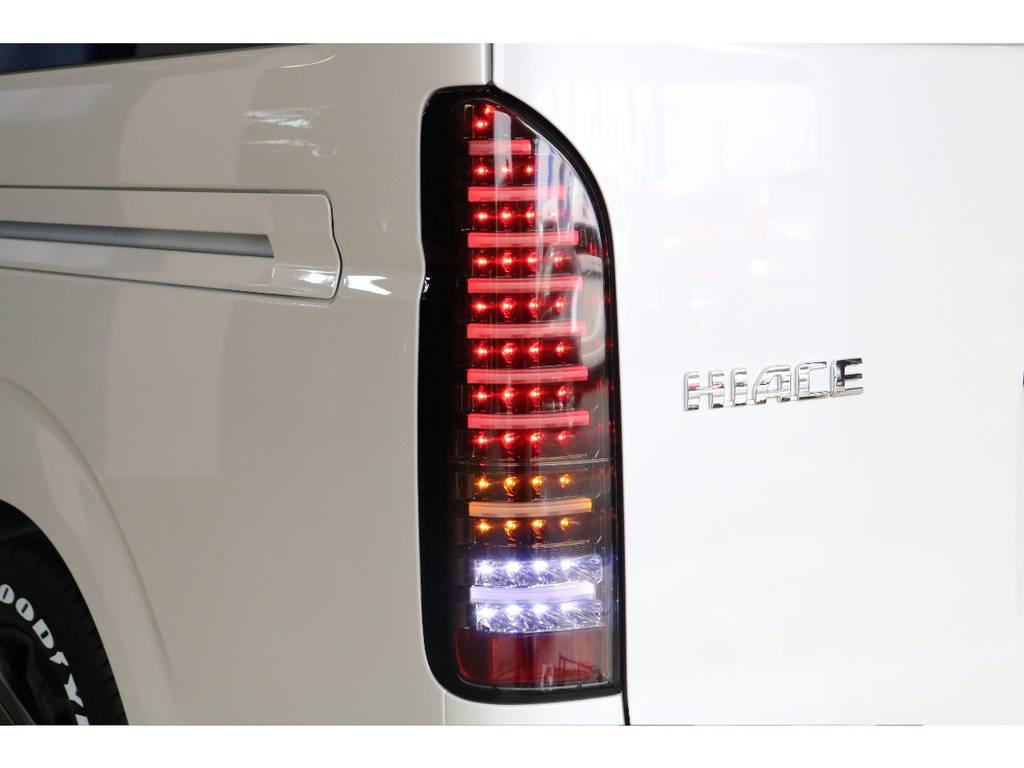 ヴァレンティ製フルLEDテールを装着済み! | トヨタ ハイエース 2.7 GL ロング ミドルルーフ Vre1