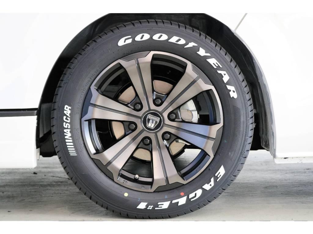 クリムソン バルベロ グランデ17インチアルミホイール&Goodyear NASCARタイヤ? | トヨタ ハイエース 2.7 GL ロング ミドルルーフ Vre1