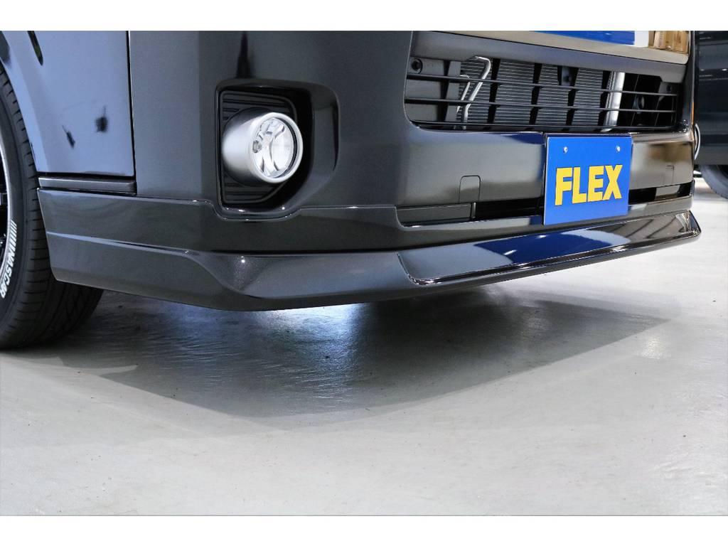 オリジナルフロントリップ装着!! | トヨタ ハイエースバン 2.8 スーパーGL 50TH アニバーサリー リミテッド ロングボディ ディーゼルターボ