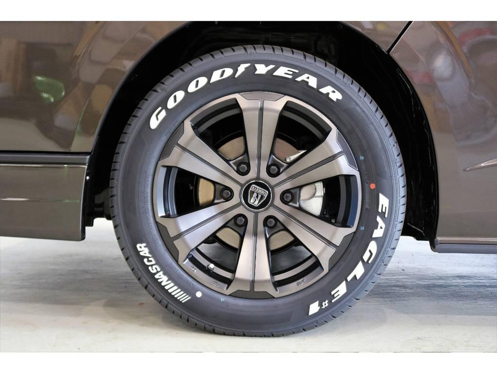FLEXオリジナルカラーバルベロ17インチアルミホイール装着!! | トヨタ ハイエースバン 2.8 スーパーGL 50TH アニバーサリー リミテッド ロングボディ ディーゼルターボ 4WD