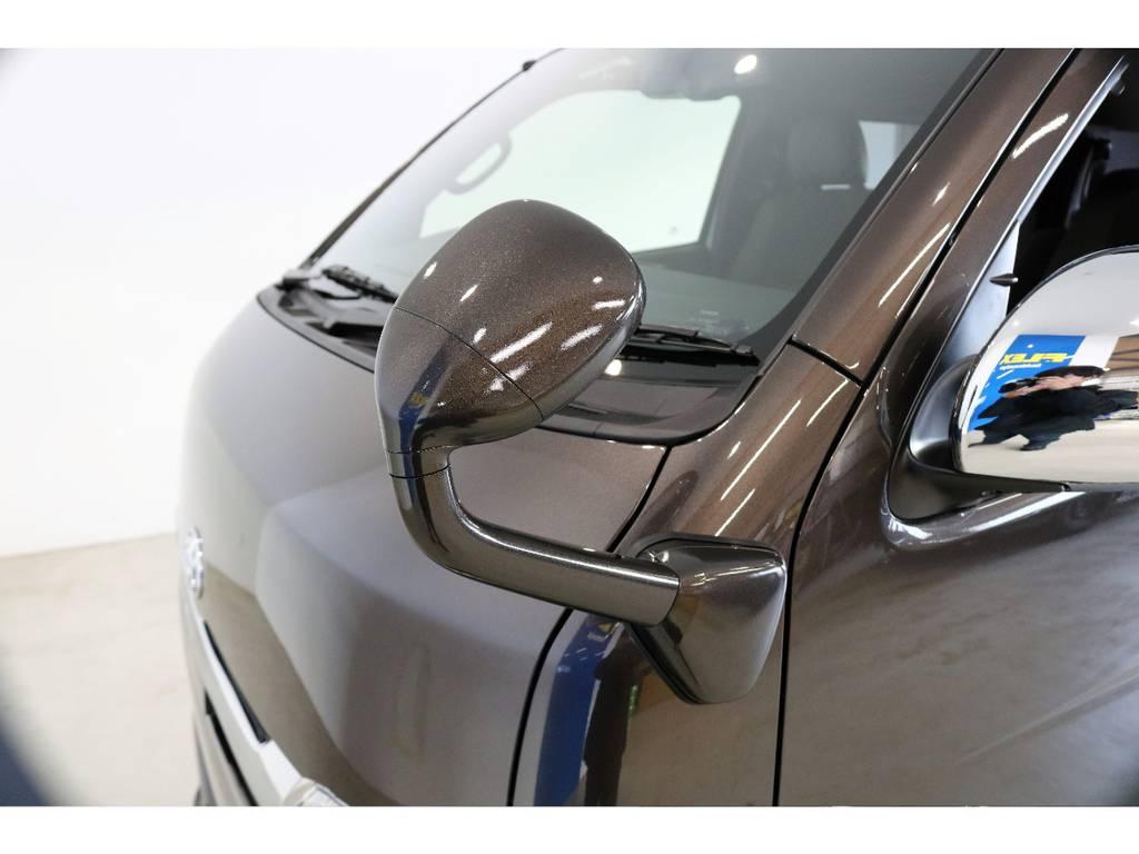 ガッツミラーも同色で塗装済み!! | トヨタ ハイエースバン 2.8 スーパーGL 50TH アニバーサリー リミテッド ロングボディ ディーゼルターボ 4WD