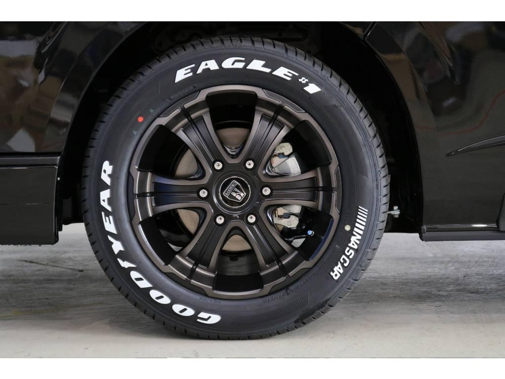 バルベロ ディープス 17インチアルミホイール&Goodyear EAGLE1 NASCARタイヤ♪ | トヨタ ハイエース 2.7 GL ロング ミドルルーフ 4WD 床張り