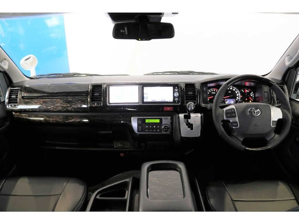 サブモニター装着済みなのでメーンナビでナビ案内をしながらサブモニターでテレビが見れます!!!! | トヨタ ハイエース 2.7 GL ロング ミドルルーフ 4WD スタンダードPKG