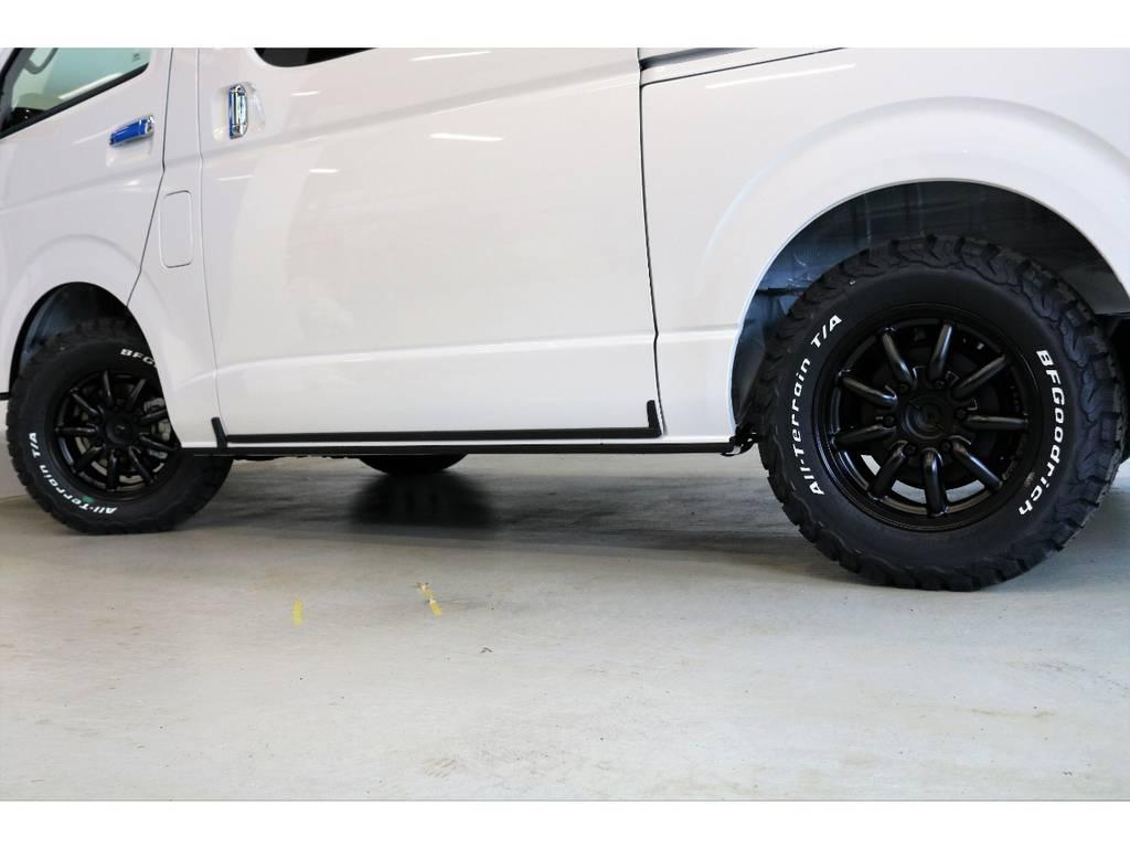 オールテレンタイヤ装着? | トヨタ ハイエース 2.7 GL ロング ミドルルーフ 4WD スタンダードPKG