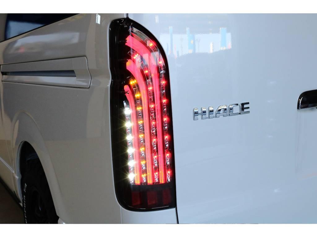 オリジナル煌ブラックLEDテールランプ装着? | トヨタ ハイエース 2.7 GL ロング ミドルルーフ 4WD スタンダードPKG