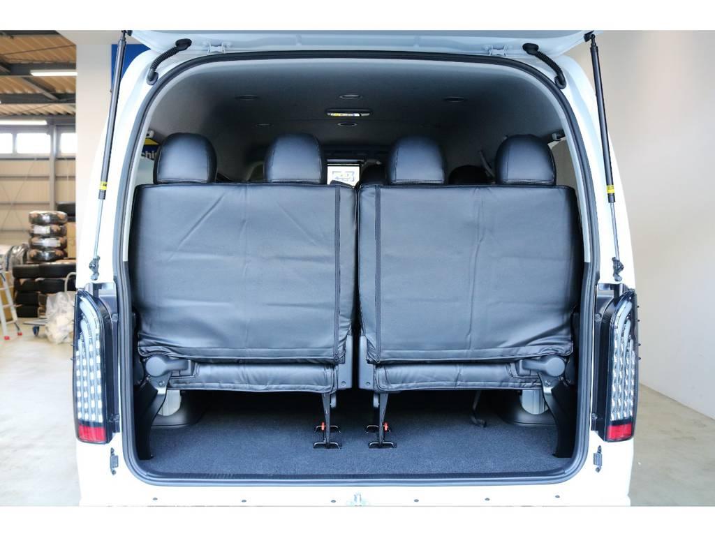 純正レイアウトの10人乗りは使い勝手も良く荷物も沢山積むことが出来ます! | トヨタ ハイエース 2.7 GL ロング ミドルルーフ 4WD スタンダードPKG