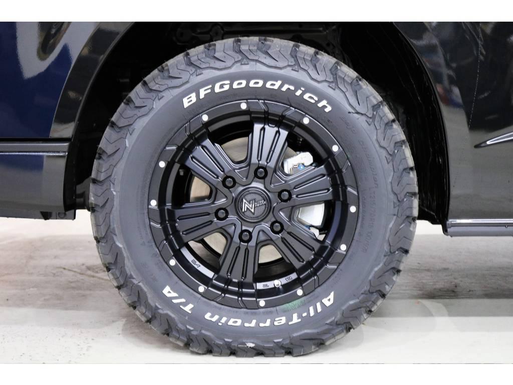 4WD+スキッドバーときたらこれは欠かせませんGoodrichオールテレンタイヤ!!!!!!! | トヨタ ハイエースバン 2.8 スーパーGL ダークプライムⅡ ロングボディ ディーゼルターボ 4WD