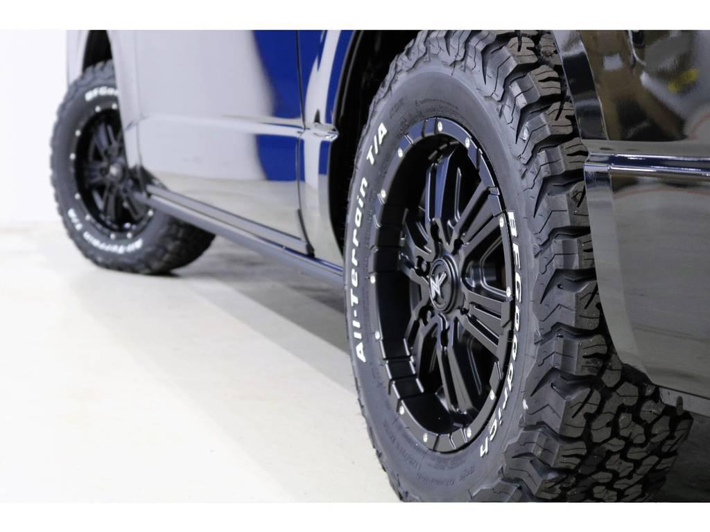 タイヤに合わせてアルミホイールはNITROPOWERの16インチ!!!!!!! | トヨタ ハイエースバン 2.8 スーパーGL ダークプライムⅡ ロングボディ ディーゼルターボ 4WD